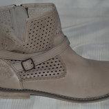 Ботинки ботильони черевики шкіра Olivers розмір 38 39