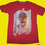 Яркая футболка с лисой,Турция,рост 158-164 см