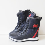 Распродажа Зимние женские ботинки Bonote blue/red