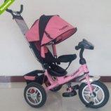 Трехколесный велосипед TURBO TRIKE M 3115HA-10 нежно розовый, колеса надувные