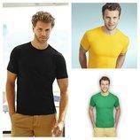 Мужская футболка, Sofspun, без боковых швов. Выбор цвета.