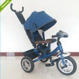 Трехколесный велосипед TURBO TRIKE M 3115HA-11 темно синий, колеса надувные