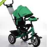 Трехколесный велосипед TURBO TRIKE M 3115HA-N4 зеленый, колеса надувные