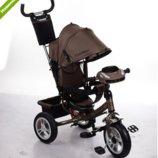 Трехколесный велосипед TURBO TRIKE M 3115HA-13 шоколадный, колеса надувные