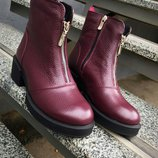 Ботинки кожа зима демисезон