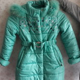 Пальто зимнее GnK 122-128