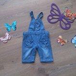 Очаровательные джинсовые шорты-комбинезон