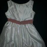 Нарядное длинное платье 8-10л,