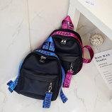 Оригинальный женский рюкзак с красочными поясами