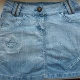 джинсова юбка із протертостями S чи підростковий розмір 11р.