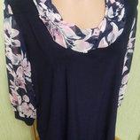 Блузка с манжетом Валентина 58, 60 и 62 размеры