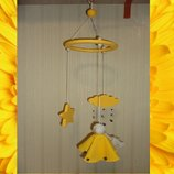 Мобиль - Радужна фея - цвет желтый