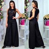 Стильные женские широкие брюки 079 Клёш в расцветках.
