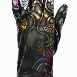 Элегантные женские перчатки из экокожи с сенсорными пальчиками на флисовой подкладке