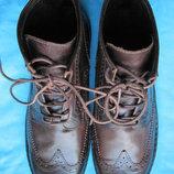 Preventi 44, 29 см кожаные ботинки мужские деми