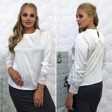 Элегантная женская блуза в больших размерах 077 Гипюр .