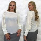 Элегантная женская блуза в больших размерах 078 Гофре .