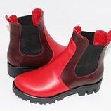 Ботинки челси высокого качества натуральная кожа замша, лак р.36-41
