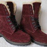 Супер зимние стильные женские сапоги ботинки Timberland теплые полуботинки замша кожа Тимберланд