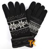 Мужские трикотажные перчатки из шерсти