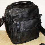 Мужская сумка из натуральной кожи 17x14x8,5 см S6685