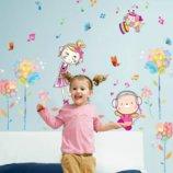 Интерьерная наклейка для детской Танцующая двочка
