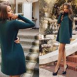 Стильное короткое женское платье 0503 Ангора Разлетайка в расцветках.
