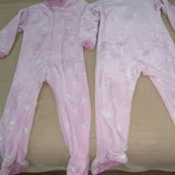 Продам фирменную, Dunnes Stores ,в новом состоянии , флисовую пижаму, человечек ,слип 2-4 года