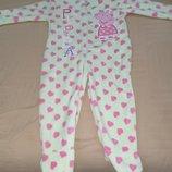 Продам фирменный Dunnes Stores новый,флисовый человечек слип пижаму на 18-24 мес.