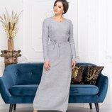 Женские теплые вязаные платья длинные макси длинное прямое теплое женское вязаное платье в пол вязка