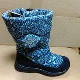Зимние мембранные сапожки 28,30 р Tigina девочку, тинсулейт, шерсть. сапоги, зима, тигина, ботинки