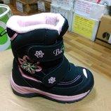 Зимние теплые сапожки 23-28 р. B&G на девочку, биджи, би-джи, сапоги, ботинки, термо, зимові