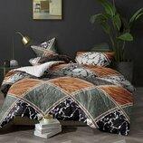Евро комплект постельного белья 3Д Поликоттон