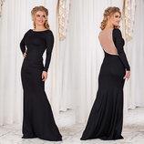 Элегантное вечернее длинное платье 431 Волна в расцветках.