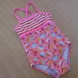 Купальник девочке детский 74-80 см розовый hema море пляж бассейн
