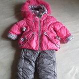 зимний костюм куртка и комбинезон на девочку
