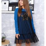 Стильное платье Винтаж, джинс