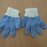 перчатки детские тряпчаные новые без бирки.