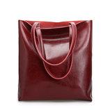 Кожа. Классическая сумка через плечо большого размера А4,бордо