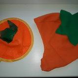 Головные уборы моркови, тыквы