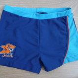 Плавки шорты мальчику лето море бассейн синие акула