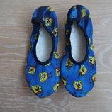 балетки синие 33- 34 рр 21 см детские обувь для танцев гимнастики губка боб синие