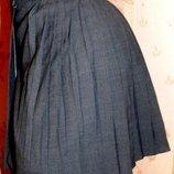 Школьная юбка-плиссе на запах 42-44р