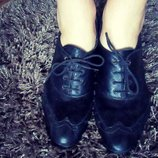Туфли натур. кожа натур.замш