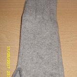 Перчатки женские, кашемировые, светло-серые, новые