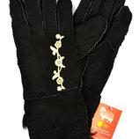 Женские замшевые перчатки на меху