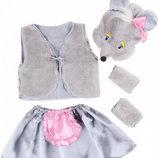 Новогодний костюм для девочки Мышка , 3-7 лет