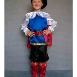 Карнавальный костюм Кот в сапогах , рост 95 - 120
