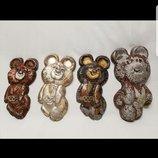Олимпийский мишка Ссср металл алюминий