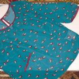 Блуза с птицами прозрачная